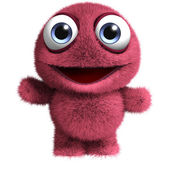 Red furry monster — Stock Photo
