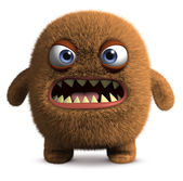 Furry cute monster — Stock Photo