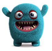 Cute furry monster — Stock Photo