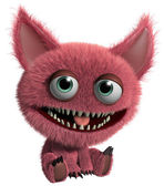 Red hairy monster — Stock Photo