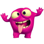 Crazy pink monster — Stock Photo