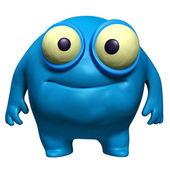 Blue cute freak — Stock Photo