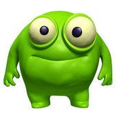 Green cute freak — Stock Photo