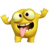 Crazy yellow monster — Stock Photo