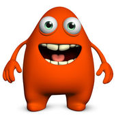Cartoon red alien — Stock Photo