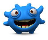Blue virus — Stock Photo