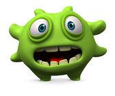 Green virus — Stock Photo