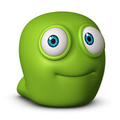 Söta gröna monster — Stockfoto