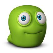 可爱的绿色怪物 — 图库照片