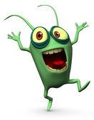Glad grön datavirus — Stockfoto