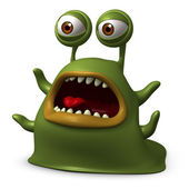 Green slug monster — Stock Photo