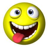 3d smiley ball — Stock Photo