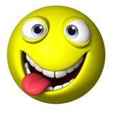 Crazy smile ball — Stock Photo