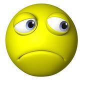 Yellow emotion ball — Stock Photo