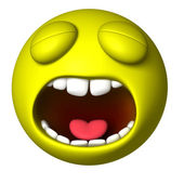 Smiley ball cry — Stock Photo