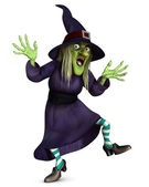 Crazy witch — Stock Photo