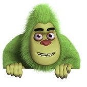 Cute green beast — Stock Photo