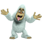 Crazy white yeti — Stock Photo