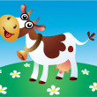 Cartoon cow - Stock Vector
