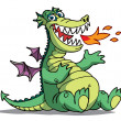 Vector de stock : Cartoon Dragon