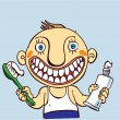 Teeth Brushing — Vector de stock #13304792