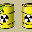 Stock Vector: Toxic barrel