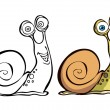 Vector de stock : Cartoon snail
