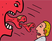 Aggressione. — Vettoriale Stock