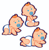 Baby Boys — Stock Vector