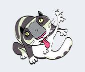 Kat reiniging zelf — Stockvector