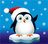 Pinguim de natal — Vetorial Stock