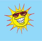 Summer Sun — Stock Vector