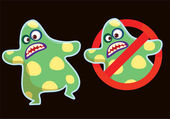 Bacillus sign — Stok Vektör