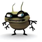 Hacker bug smile — Stock Photo