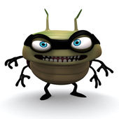 Green hacker bug — Stock Photo