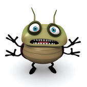 Afraid green bug — Stock Photo