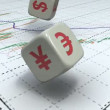 Stock Video: Forex dice game