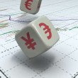 Forex dice game — Stock Video