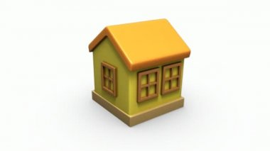 3d home model rotate — Stock Video
