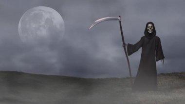 Halloween Grim Reaper — Stock Video