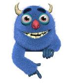 3d cartoon cute furry devil — Stock Photo