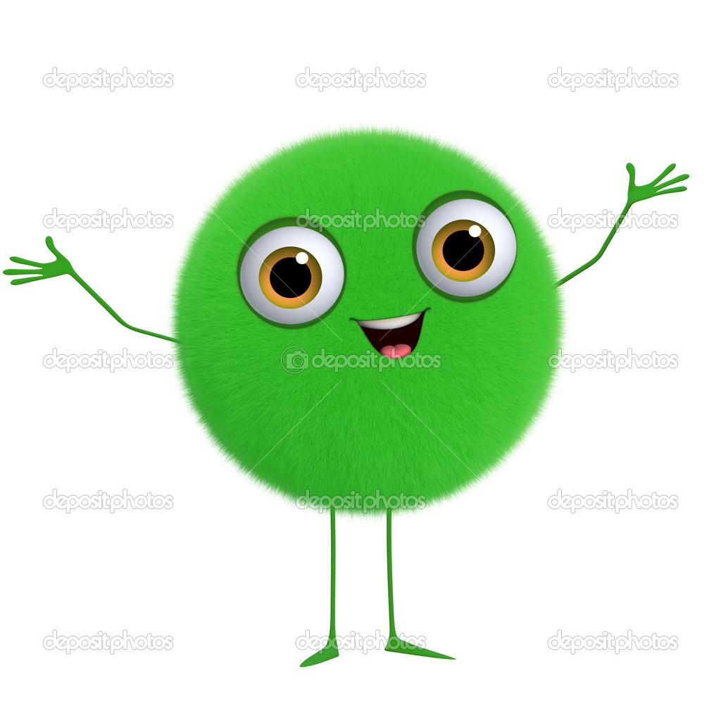 3d 卡通可爱绿球