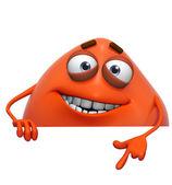 3d cartoon cute red monster — Stock Photo