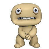 3d cartoon cute brown man — Stock Photo