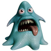 Dessin animé 3d monstre halloween — Photo