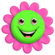 Royalty-Free Stock Photo: 3d cartoon cute flower