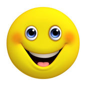 3d bola de amarelo bonito dos desenhos animados — Foto Stock