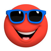 3d cartoon cute red ball — Stock Photo