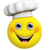 3d cartoon cute chef — Stock Photo
