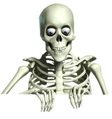 3d cartoon skeleton — Stock Photo
